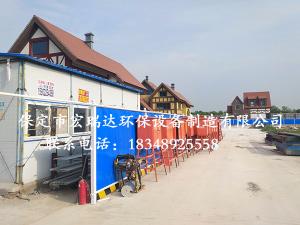 天津市云海创业园别墅区-围挡喷淋系统案例