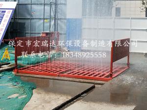 保定贝博手机网页100T工程洗轮机解决了天津武清区建筑工地的进场车辆冲洗问题