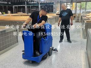 山西太原农贸市场使用保定贝博手机网页驾驶式洗地机案例