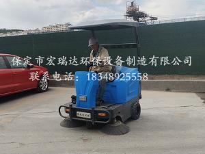 内蒙古砂石厂使用保定贝博手机网页1550扫地车案例