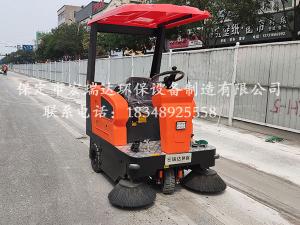 保定贝博手机网页1450清扫车在天津建筑工地上岗